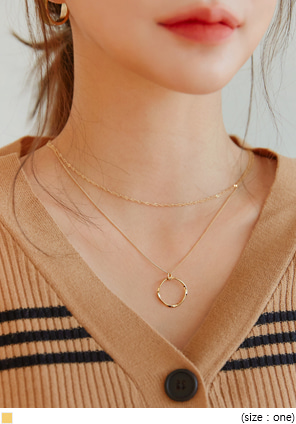 [JEWELRY] O RING GOLD LAYERED NECKLACE